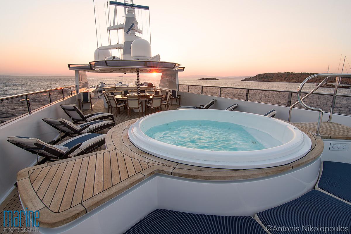 Sunset on the sun deck