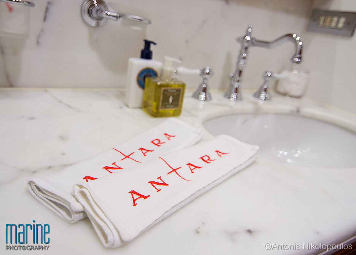 luxury yacht nikolopoulos detail bathroom photography