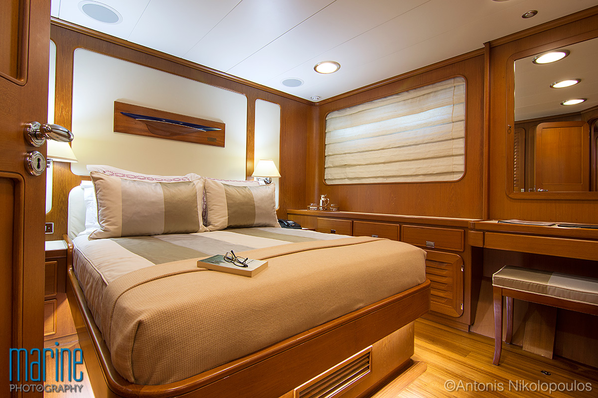 luxury sailing yacht cabin nikolopoulos photography