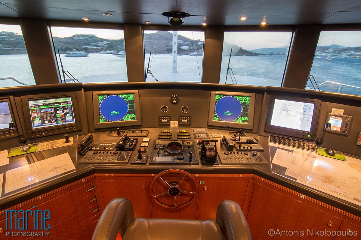 Luxury yacht bridge photography, Nikolopoulos