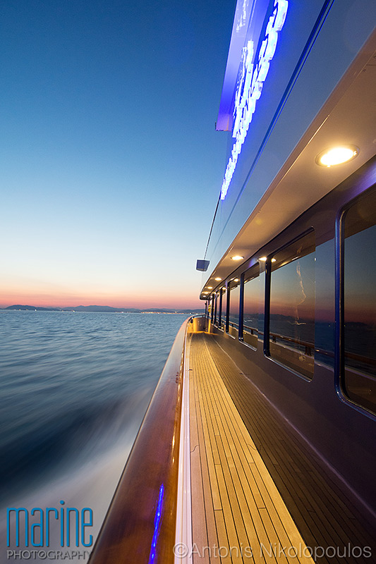 luxury yacht sunset deck photography Nikolopoulos_316_9590